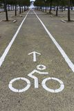 Bike lane in city park. In Athens, Greece Stock Images