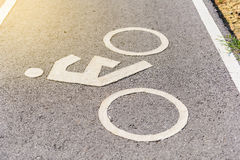 A bike lane for cyclist. Bicycle lane in the park Stock Photo