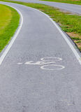 A bike lane for cyclist. Bicycle lane in the park Stock Image