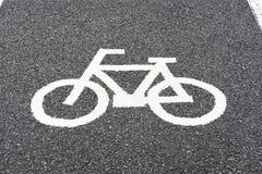 Bike lane Royalty Free Stock Images