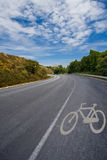 Bike lane in the forest Royalty Free Stock Photography