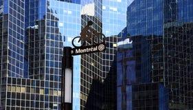 Bike lane in a modern city. Bike lane in the modern city of montreal Stock Photo