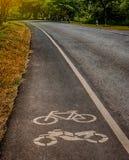 Bike lane in park Royalty Free Stock Photos