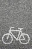 Bike lane path way cycle bicycle road traffic copyspace copy spa Stock Images
