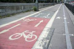 Bike lane at Prague Royalty Free Stock Images