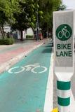 Bike lane Royalty Free Stock Photography