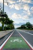 Bike lane. Road for bicycles Stock Image