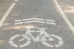 Bike lane, road for bicycles Stock Image