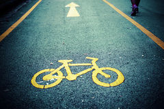 Bike lane, road for bicycles Royalty Free Stock Photography