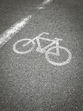 Bike lane, road for bicycles Royalty Free Stock Images