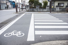 Bike lane on the road Royalty Free Stock Images