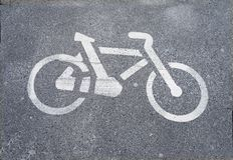 Bike lane safety Royalty Free Stock Photo