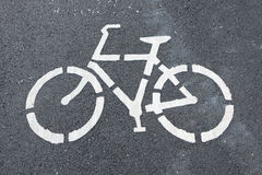 Bike lane for safety Stock Photography