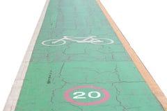 Bike lane for safety Stock Images
