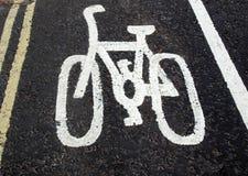Bike lane sign Royalty Free Stock Image