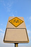 Bike Lane Sign Royalty Free Stock Photography