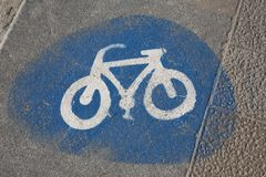 Bike Lane Sign Stock Photography