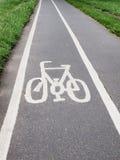 Bike lane sign Stock Photography