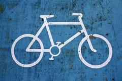 Bike Lane Sign. Close up of Blue Bike Lane Sign royalty free stock image