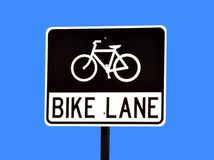 Bike lane sign Royalty Free Stock Images