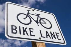 Free Bike Lane Sign. Stock Image - 40931811