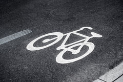 Bike Lane Sign Royalty Free Stock Photos
