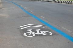 Bike lane sign Royalty Free Stock Photos