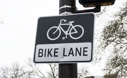 Bike Lane sign royalty free stock photo