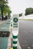 Bike Lane Sign. Stock Image