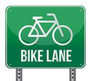 Bike lane sign illustration design Stock Photography