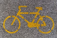 Bike lane sign Stock Image