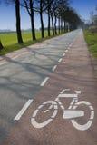 Bike lane sign Royalty Free Stock Photo