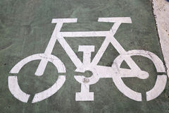 Bike Lane Sign, Saragossa Stock Image