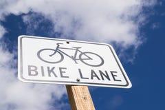 Bike Lane sign. Royalty Free Stock Photos