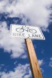 Bike Lane sign. Stock Photos