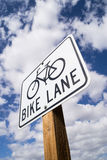Bike Lane sign. Stock Images