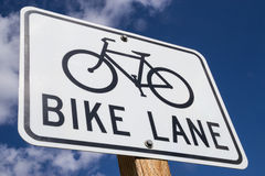 Bike Lane sign. Stock Image