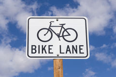 Bike Lane sign. Stock Photos