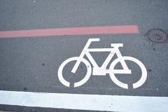 Bike lane signage. Bike lane sign in japan Stock Photo