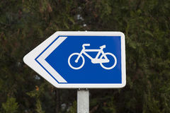 Bike lane signal Stock Photography