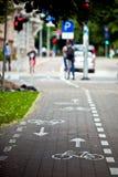 Bike lane signal Royalty Free Stock Photos