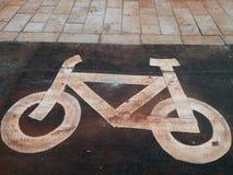 Bike lane signs stock photography