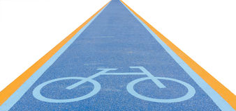 Bike lane signs Royalty Free Stock Photography