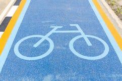 Bike lane signs Royalty Free Stock Photos
