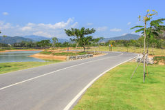 Bike lane at Singha Park,Mueang Chiang Rai District,Chiang Rai,Northern Thailand. The place for farm's tour, scenery, natural environment and adventures Stock Image