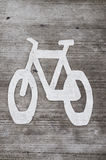 Bike Lane Stencil Stock Photos