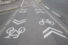 Bike Lane Symbol Royalty Free Stock Image
