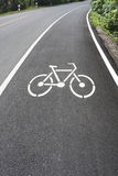 Bike lane Stock Photo