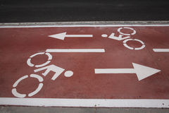Bike Lane Symbol Royalty Free Stock Image