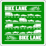Bike Lane Traffic Jam  illustration Stock Photos
